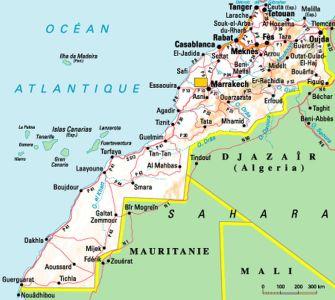kaart marokko KMR
