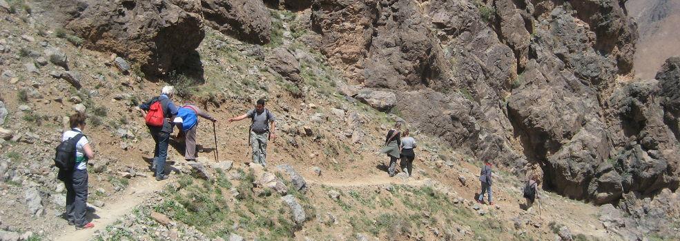 bergwandeling in Marokko