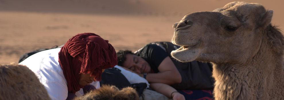 slapen in de woestijn Marokko