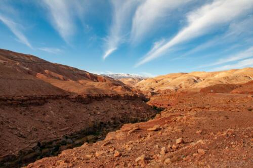 G-fotoreis berg met lucht
